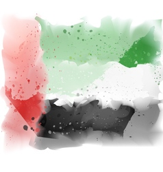 map of United Arab Emirates Watercolor pain vector image