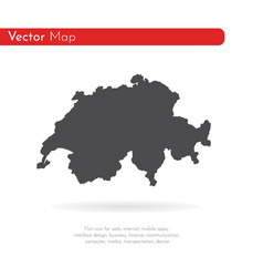 map switzerland isolated vector image