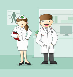 medical staff doctor and nurse vector image