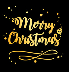 merry christmas and happy new year 2019 gold on vector image