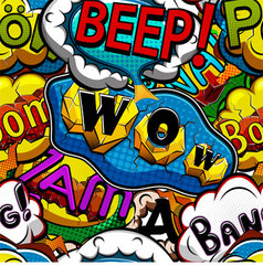 Multicolored comics speech bubbles vector image