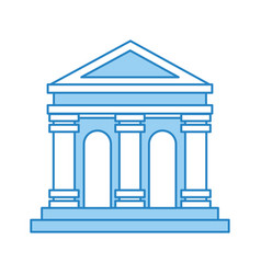 Museum building isolated icon vector
