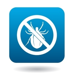 No bug sign icon simple style vector image