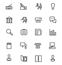 Office Line Icons 3 vector