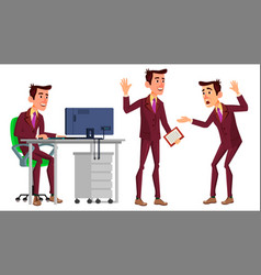 office worker face emotions various vector image