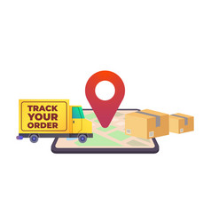 online delivery service concept online order vector image