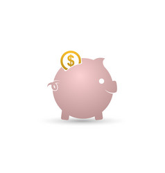 piggy bank icon isolated on white background vector image