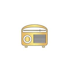 retro radio computer symbol vector image