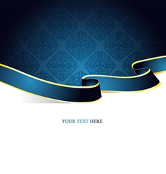 ribbon vintage blue vector image