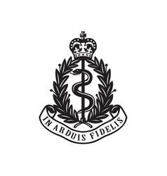 royal army medical corps or ramc badge retro vector image