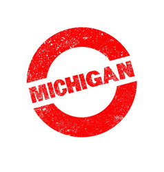 Rubber ink stamp michigan vector