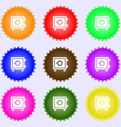 Safe icon sign big set of colorful diverse vector