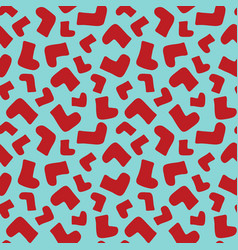 Seamless background pattern with red socks vector