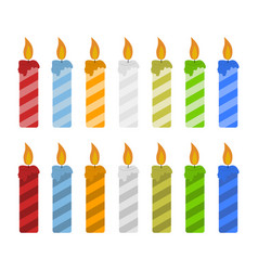 set of color candles vector image