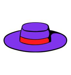sombrero hat icon cartoon vector image