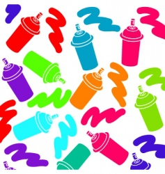Spray cans colorful background vector