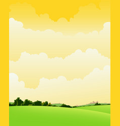 Spring and summer cloudy landscape vector