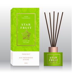 Starfruit home fragrance sticks abstract vector
