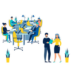 team work conference meeting business talking vector image