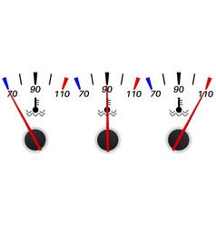 Temperature gauge scale vector