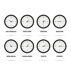 time zone world vector image