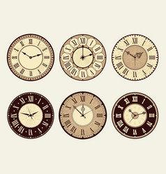 vintage clock elegant antique metal watches vector image