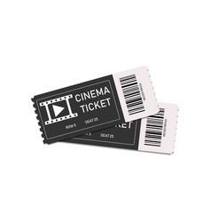 vintage movie tickets two tickets in cinema vector image