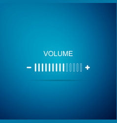 volume adjustment icon isolated on blue background vector image