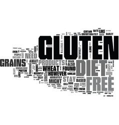 what should you know about gluten free diet text vector image vector image