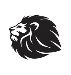 Wild lion head icon logo template design vector