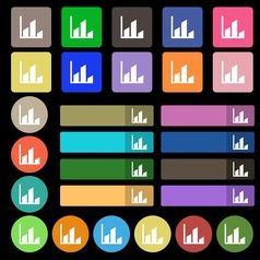 Chart icon sign Set from twenty seven multicolored vector image vector image