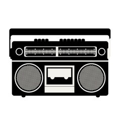classic tape player device vector image
