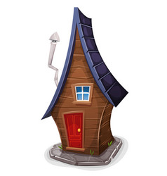 comic house for fairy tales vector image