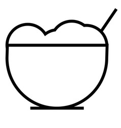oat icon vector image