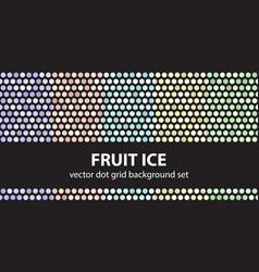 polka dot pattern set fruit ice seamless vector image vector image