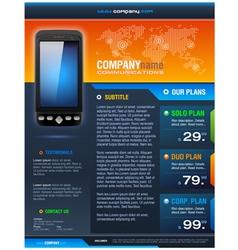 Smart Phone Provider Brochure vector image vector image