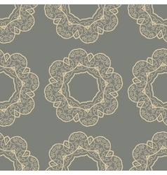 Stylized Doodle Seamless Tile vector image