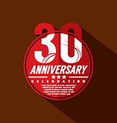 30 Years Anniversary Celebration Design vector image