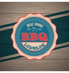 Barbecue BBQ grill logo stamp retro poster vector image