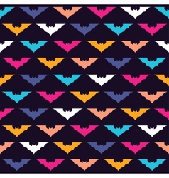 Colorful bats vector image vector image