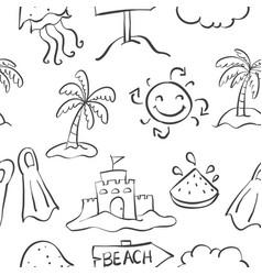 Doodle of summer element hand draw vector