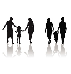 family child silhouette vector image