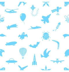 flying theme theme symbols and icons seamless vector image