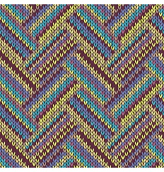 Seamless knitted pattern Multicolored template vector image