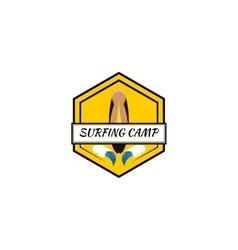surfing logo vector image