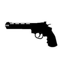 black silhouette of gun vector image