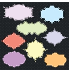 border collection vector image