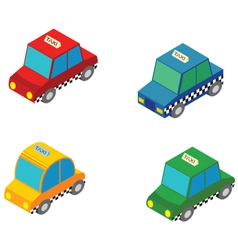 isometric taxi vector image vector image
