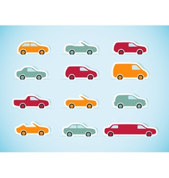 Set of paper cars vector image vector image