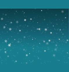 snow fall in blue sky christmas night background vector image